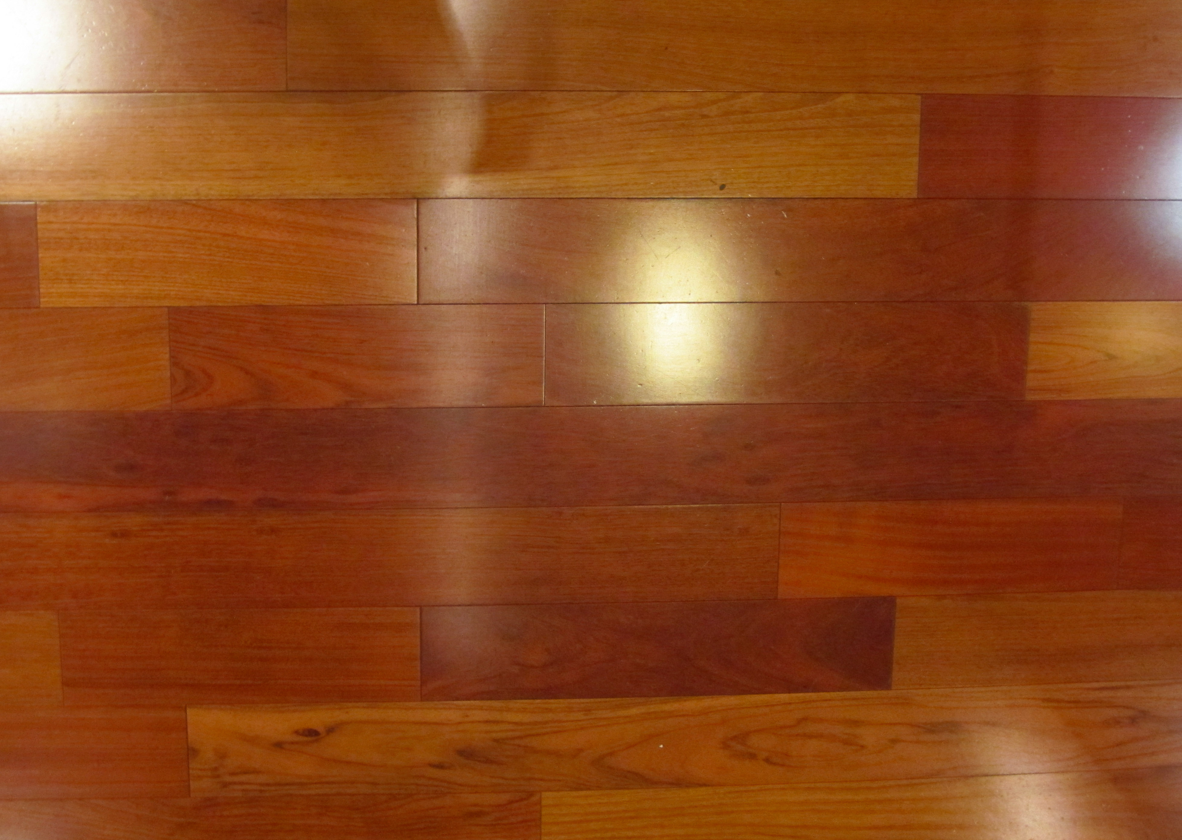red wood texture bright plank cherry flooring reflection ...
