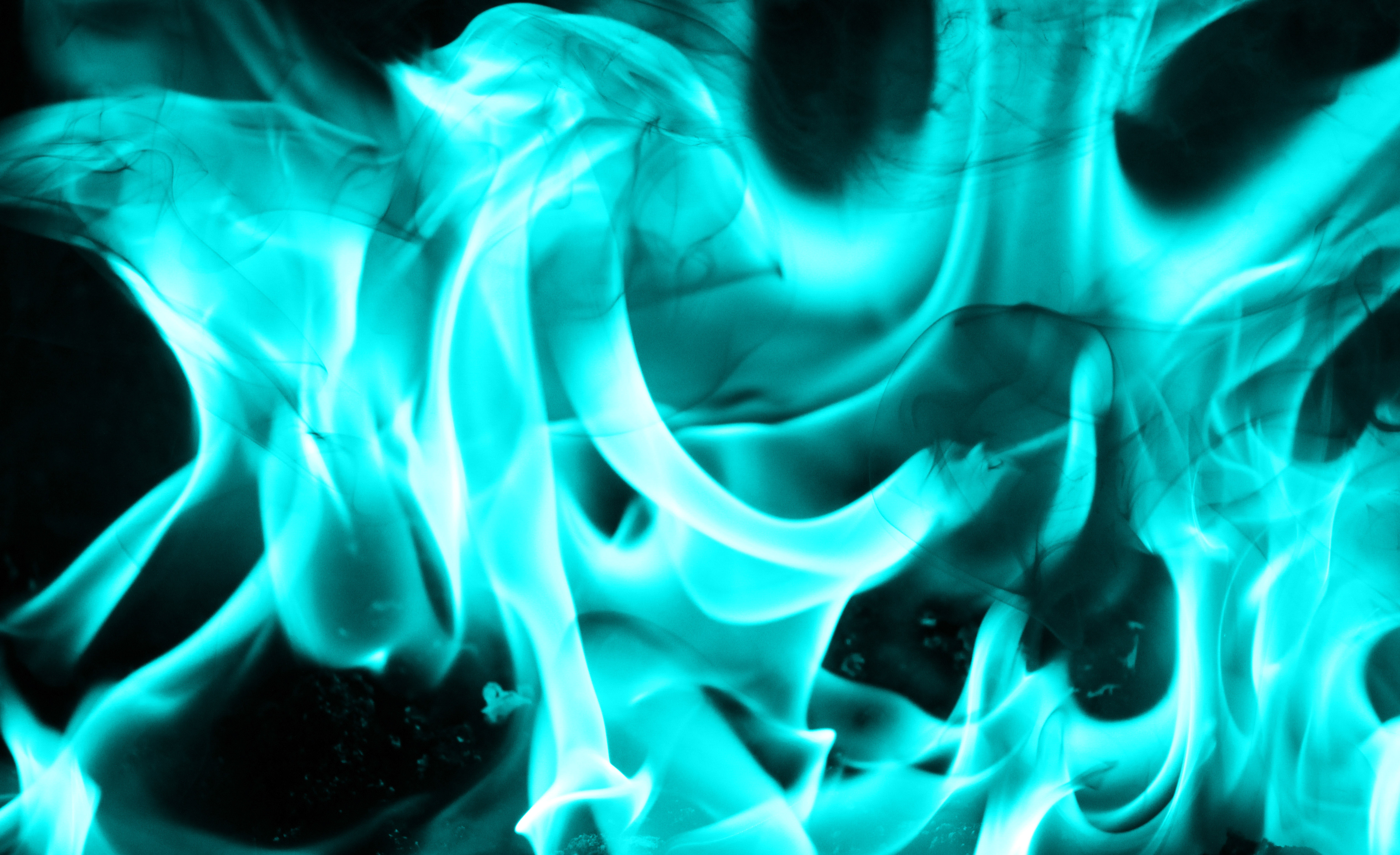 Teal Fire Texture Cool Flame Cold Burn Stock Photo Texture X